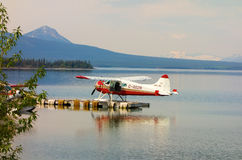 A beaver float-plane used for charters into alaska Stock Image