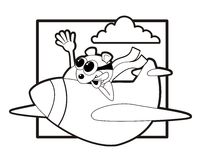Beaver flying a plane Stock Photography