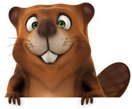 Beaver. Fun beaver, 3d generated illustration Royalty Free Stock Images