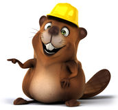 Beaver. Fun beaver, 3d generated illustration Stock Photo