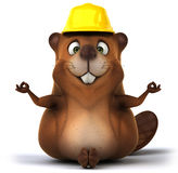 Beaver. Fun beaver, 3d generated illustration Royalty Free Stock Photography