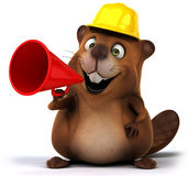Beaver. Fun beaver, 3d generated illustration Royalty Free Stock Image