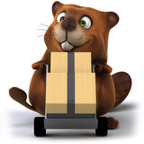 Beaver. Fun beaver, 3d generated illustration Royalty Free Stock Photos