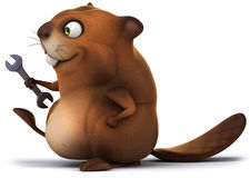 Beaver. Fun beaver, 3d generated illustration Stock Images