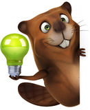 Beaver. Fun beaver, 3d generated illustration Stock Photos