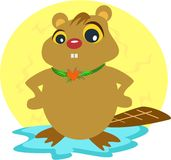 Beaver with a Heart vector illustration