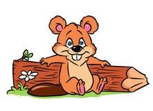 Beaver holidays nature cartoon illustration Royalty Free Stock Photography