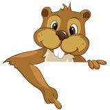 Beaver i CREES Illustrazione Vettoriale