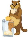 Beaver i CREES Fotografia Stock Libera da Diritti