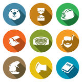 Beaver Icons Set. Vector Illustration Royalty Free Stock Photography