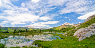 Beaver Lagoon in the San Juan Mountains in Colorado Royalty Free Stock Photo