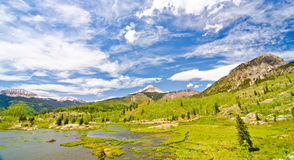 Beaver Lagoon in the San Juan Mountains in Colorado Stock Photography