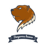 Beaver. Logo. Angry s Vector Illustration Royalty Free Stock Images