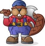 Beaver Lumberjack Cartoon Character Stock Photos
