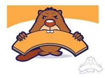 Beaver Mascot Character Stock Image