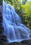 Beaver Meadow Falls. Side view of Beaver Meadow Falls in the Adirondack State Park in New York stock photography