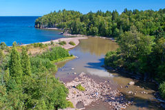 Beaver river, lake superior Stock Images