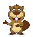 Beaver showing something stock illustration