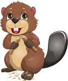 Beaver. Who is holding a wand Royalty Free Stock Image