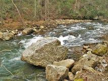 Beaverdam Creek at Backbone Rock. Beaverdam Creek runs through Backbone Rock Recreation Area in Shady Valley, Tennessee, near Damascus, Virginia royalty free stock images