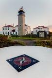 Beavertail latarnia morska przy świtem Zdjęcia Stock