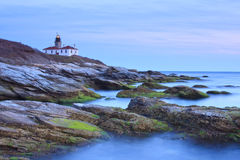 Beavertail Lighthouse Stock Photo