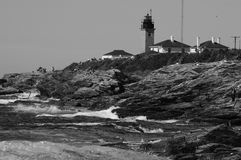 Beavertail Lighthouse, Jamestown, Rhode Island Royalty Free Stock Photography