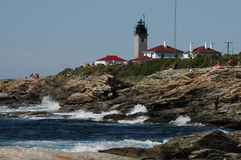 Beavertail Lighthouse, Jamestown, Rhode Island Stock Photos