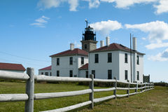 Beavertail Lighthouse Museum and Tower Stock Photos