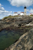 Beavertail Lighthouse Park in Rhode Island Royalty Free Stock Images