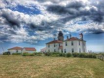 Beavertail Lighthouse Royalty Free Stock Image