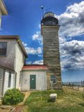 Beavertail Lighthouse Royalty Free Stock Images