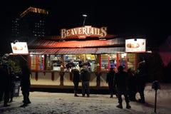 BeaverTailskiosk in Winterlude Stock Afbeeldingen