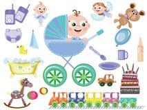 Bebé, ícones Imagens de Stock Royalty Free