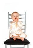Bebé adorable que da un beso imagen de archivo libre de regalías