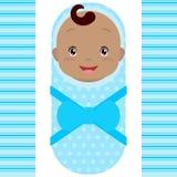 Bebé africano sonriente aislado en el fondo blanco Vector ilustración del vector