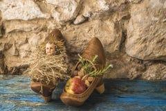 Bebé antiguo Jesús de la Navidad Foto de archivo libre de regalías