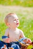 Bebé ao ar livre Imagens de Stock Royalty Free