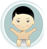 Bebé asiático Imagem de Stock