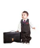 Bebé asiático adentro como hombre de negocios Imagen de archivo libre de regalías