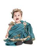 Bebé asiático em um vestido extravagante do amoretto Imagem de Stock Royalty Free