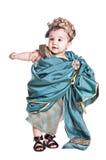 Bebé asiático en una alineada de lujo del amoretto Imágenes de archivo libres de regalías