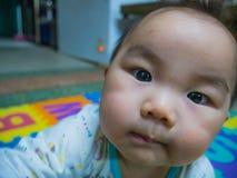 Bebé asiático hermoso de Cutie imagen de archivo