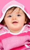 Bebé bonito na cor-de-rosa Imagem de Stock
