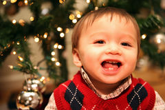 Bebé bonito no Natal Fotografia de Stock Royalty Free