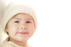 Bebé bonito que desgasta a roupa morna Fotografia de Stock Royalty Free