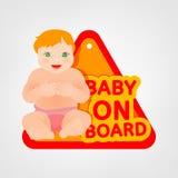 Bebé a bordo Foto de archivo libre de regalías