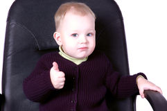 Bebé boss_2 Fotografía de archivo libre de regalías