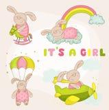 Bebé Bunny Set Foto de archivo libre de regalías
