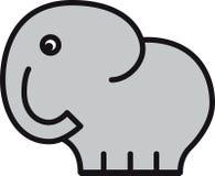 Bebé cómico del elefante Ilustración del Vector